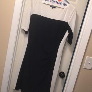 Blue and white short sleeve dress